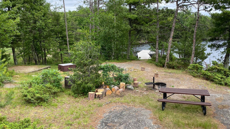 View of campsite core area
