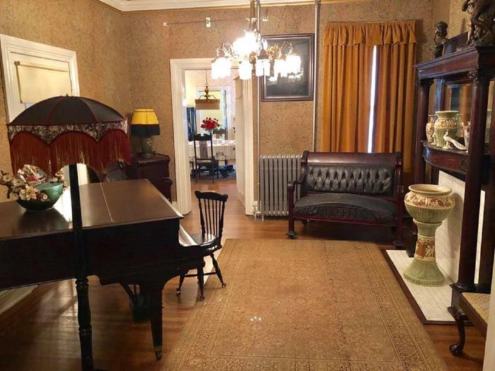 The Back Parlor of the Historic Walker HomeThe back parlor served as an entertainment location for the Walker family