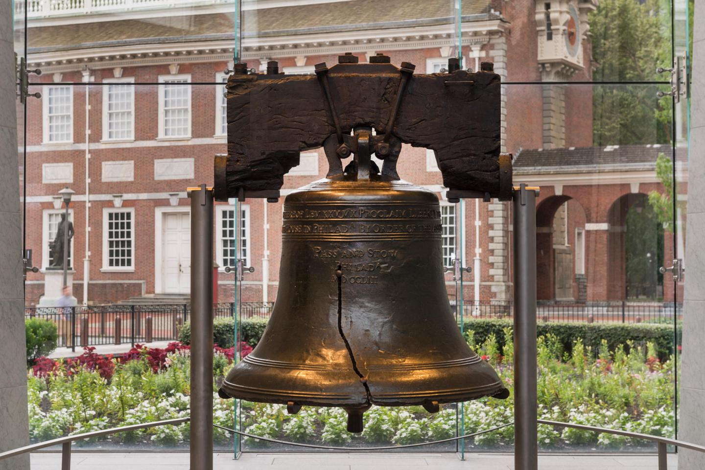 The Liberty BellRecognizable for its crack, the Liberty Bell remains significant today for its message of liberty.
