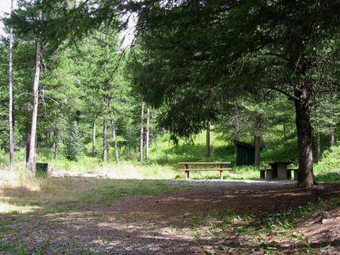 Moose Creek Group Area - Picnic tables, fire ring & outhouseMoose Creek Group Area