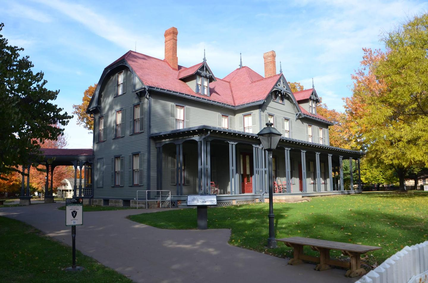 James A. Garfield National Historic SiteThousands to visitors came to this front porch to hear presidential candidate James A. Garfield speak in 1880.