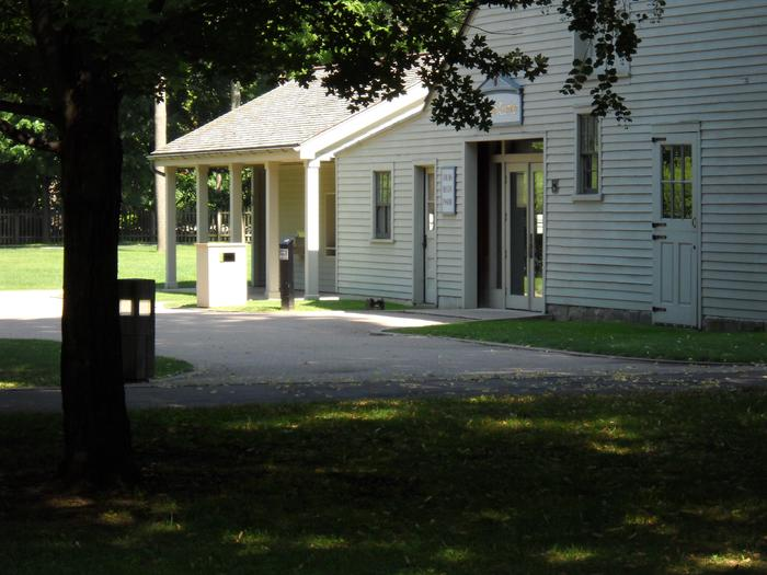 Visitor Center, Main EntranceA friendly greeting awaits visitors who enter the Visitor Center. This historic building, constructed in 1894, serves as bookstore, exhibit gallery and auditorium where the park film is shown. Tickets for tours of the Garfield home are also available her