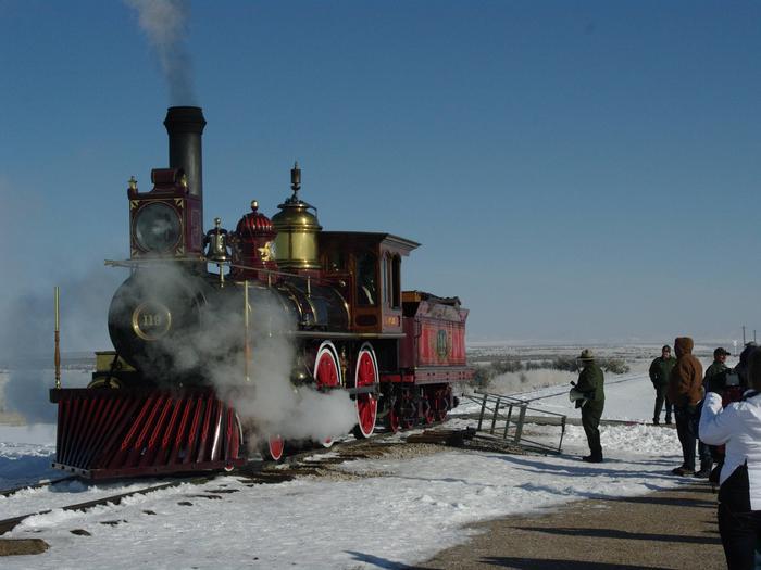 Golden Spike National Historical Park - Union Pacific Steam Locomotive 119