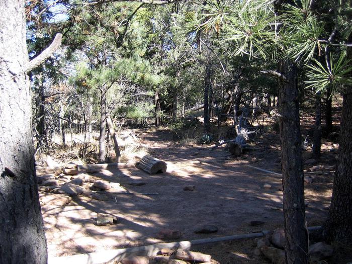 McKittrick Ridge tent padThe Mckitterick Ridge camping area is a short distance from the ridge.