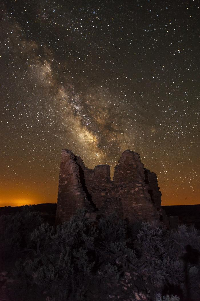 Milky Way at Square Tower GroupHovenweep National Monument was designated an International Dark Sky Park in 2014.