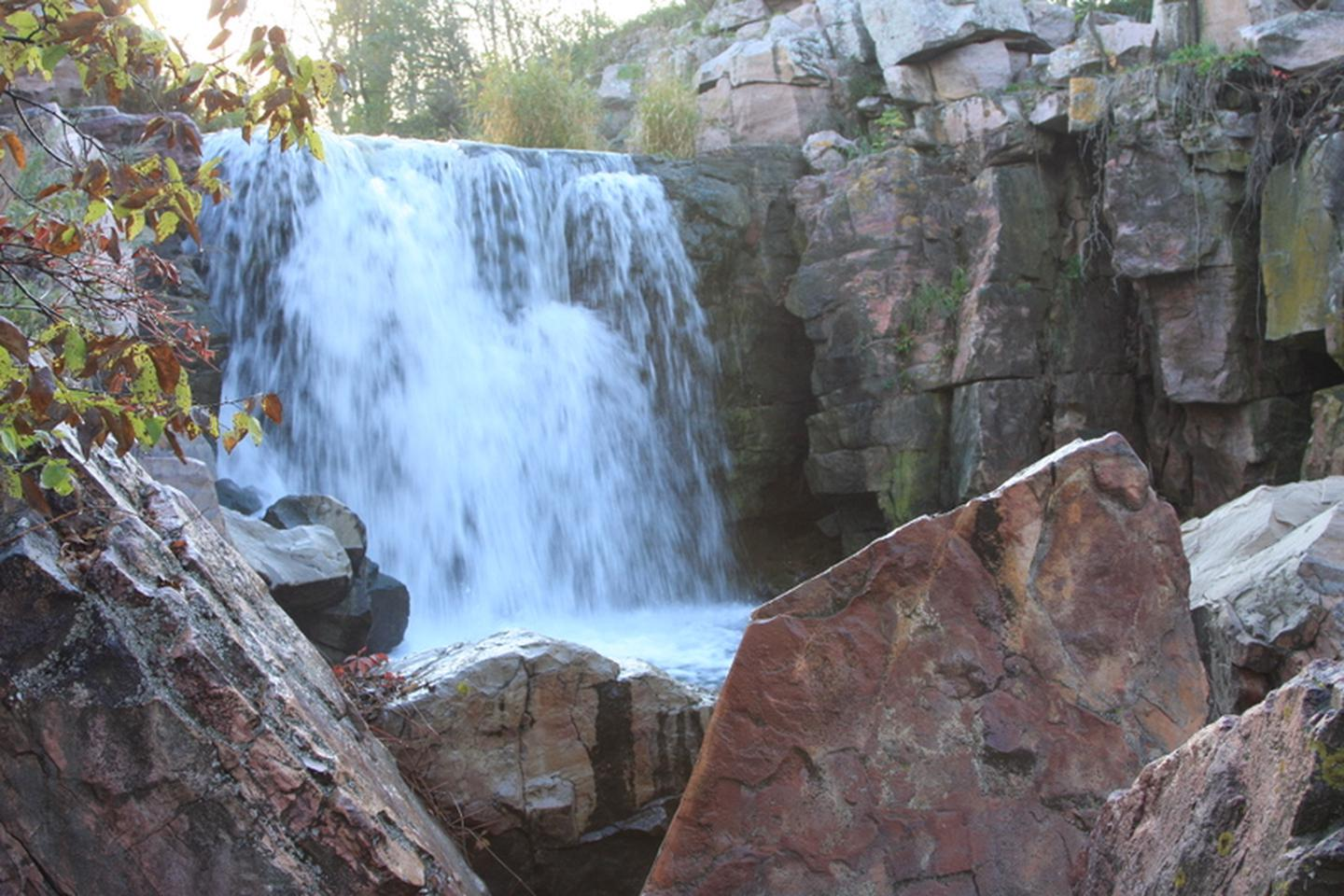 Interp_CircleTrail-WinnewissaFalls_3-2008Winnewissa Falls, one of many scenic sites visitors can see from the Monument Circle Trail.