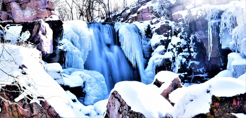Winnewissa Falls in WinterWinnewissa Falls is a favorite spot for visitors all year long