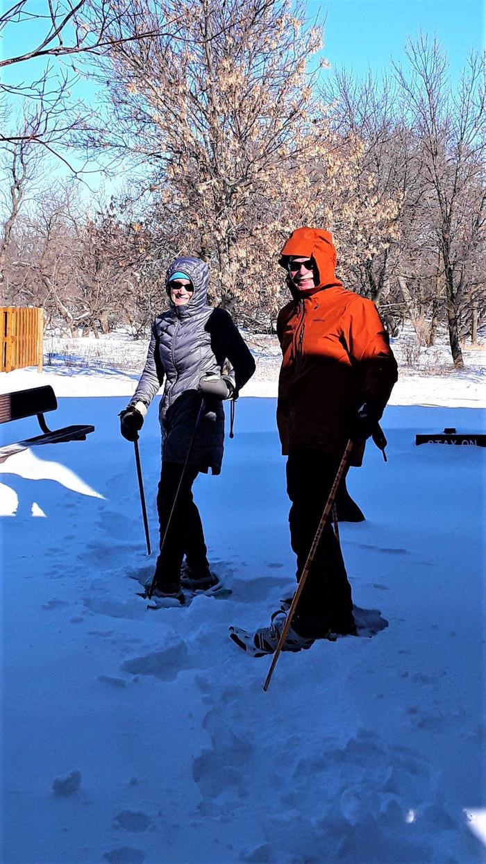 Snowshoeing the Circle TrailSnowshoeing is available for free after January 1st