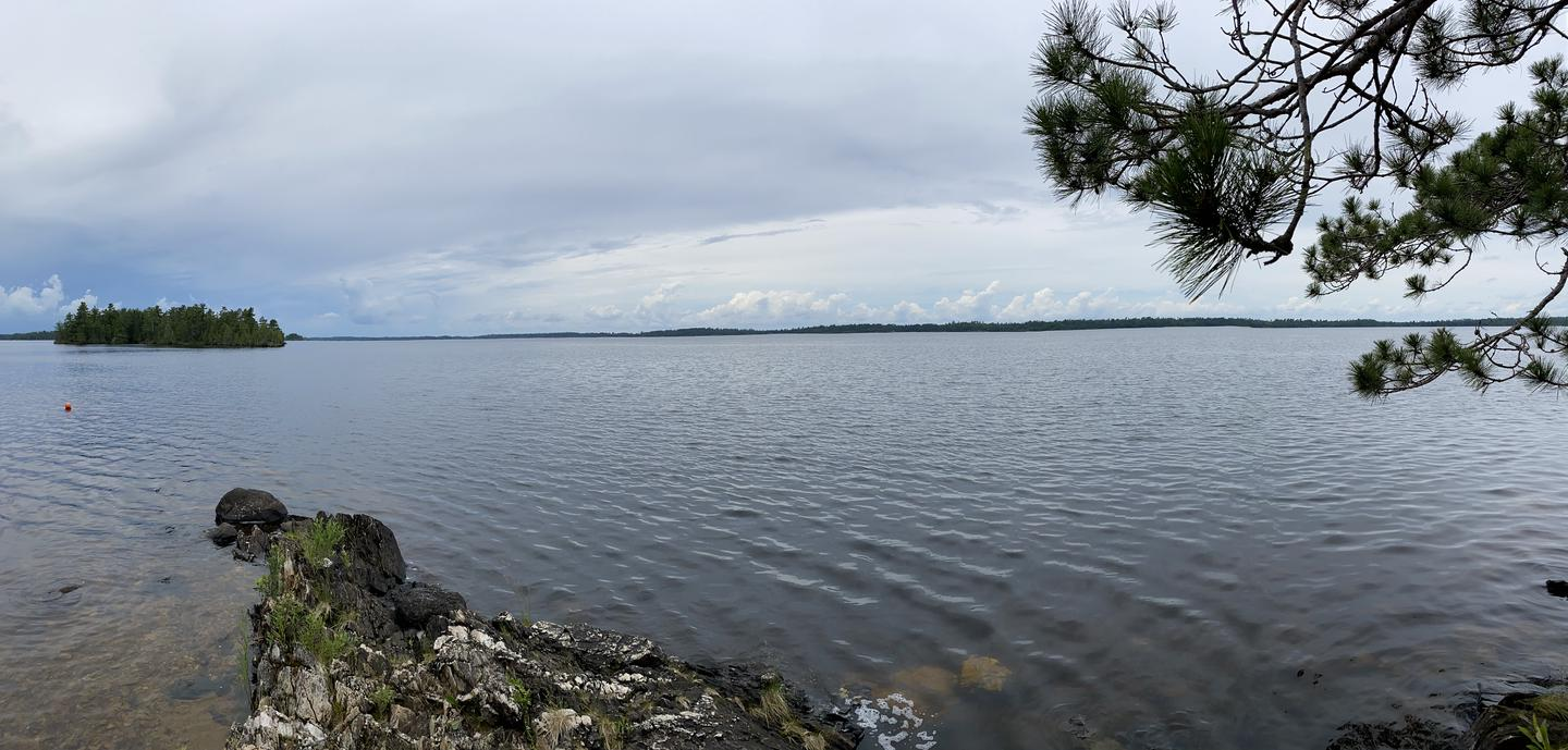 View from west shore of Tango Channel campsite