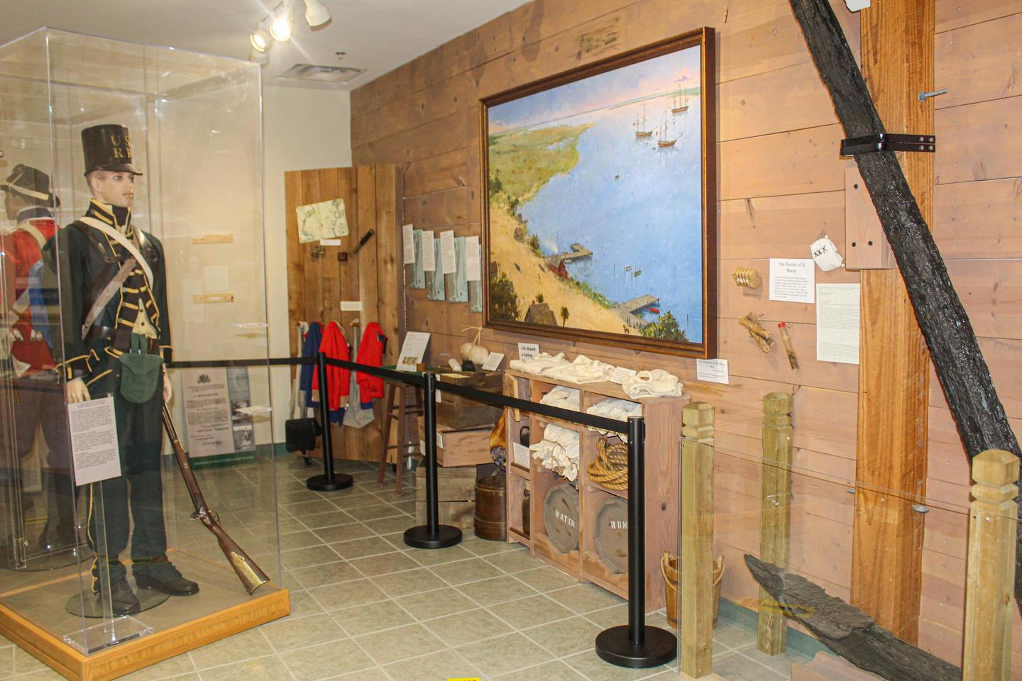 War of 1812 ExhibitThe British invasion of Cumberland Island during the War of 1812 is highlighted in the museum.