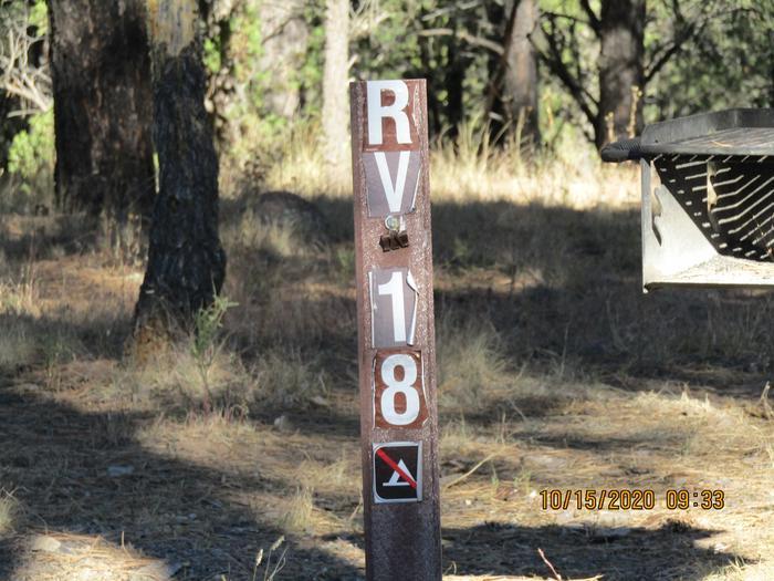 RV site #18RV camping site #18