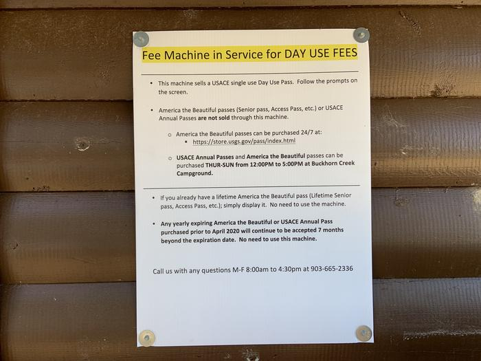 Fee Station Instructions