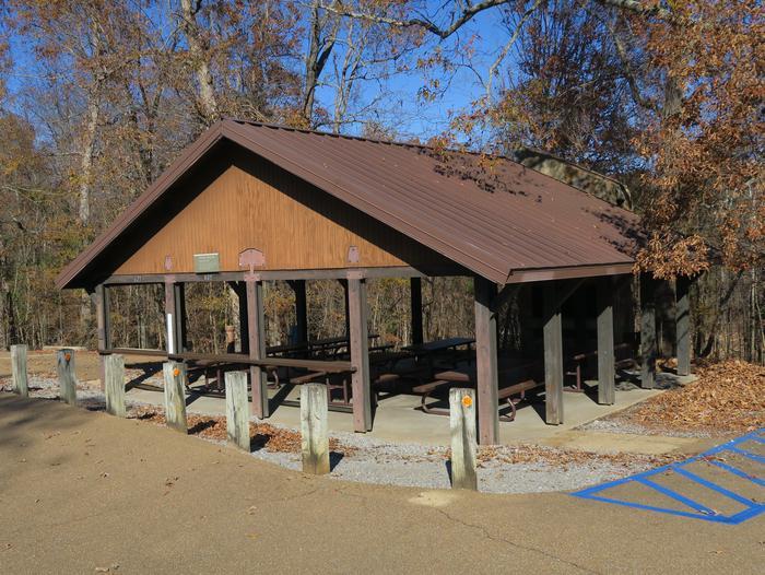 Pavilion 627 (Playground)Hickory Ridge Picnic Shelter 627