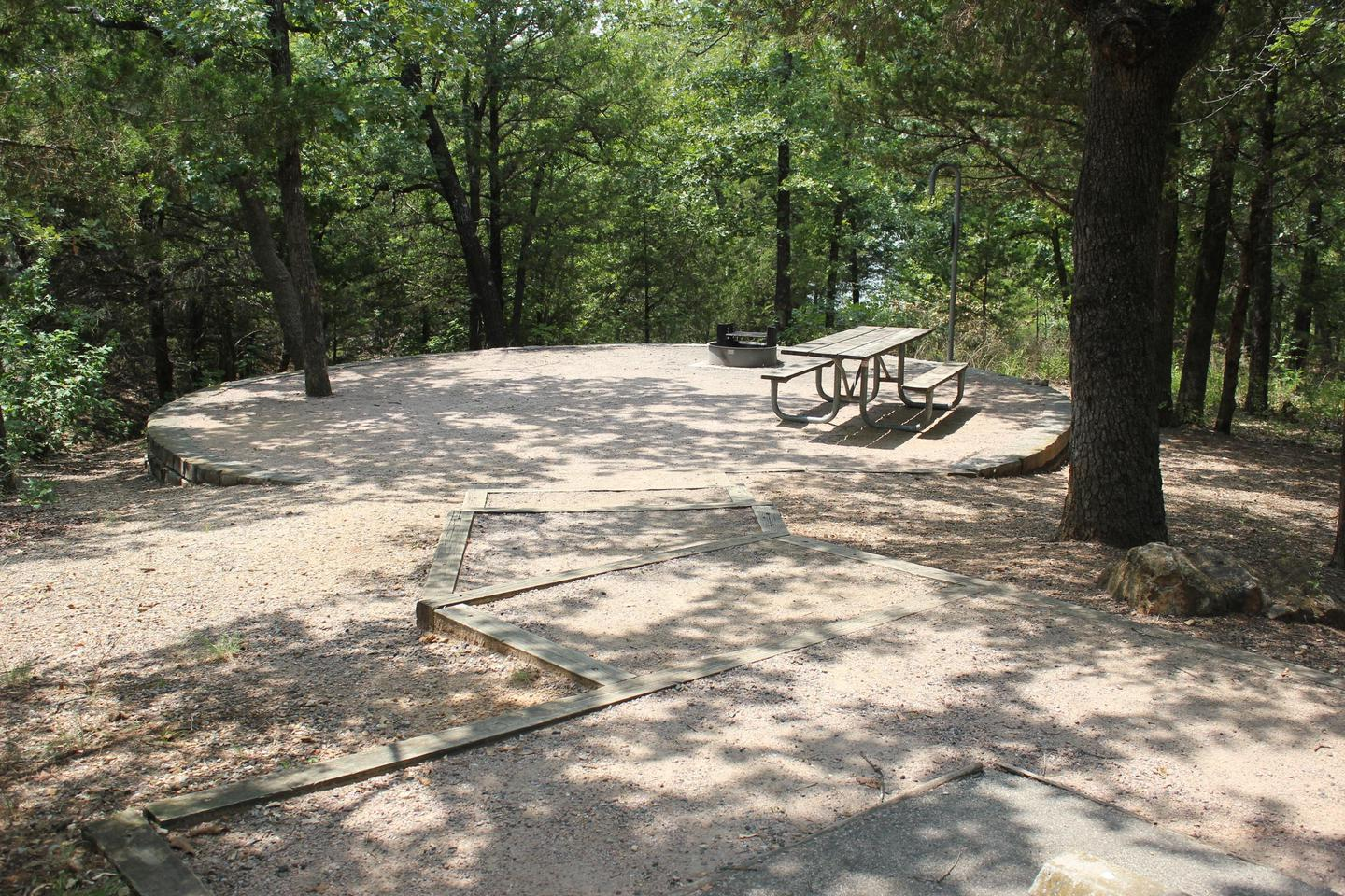 Buckhorn Site 93A walk-in site at Buckhorn Campground, with no parking or hook-ups for an RV.