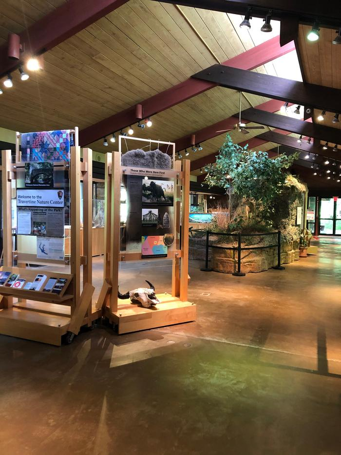TNC InteriorNature is the main focus of the exhibits in the Travertine Nature Center