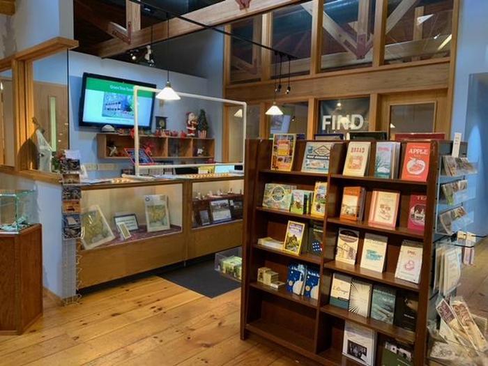 Park store and information desk at Ste. Geneviève National Historical Park Visitor Center