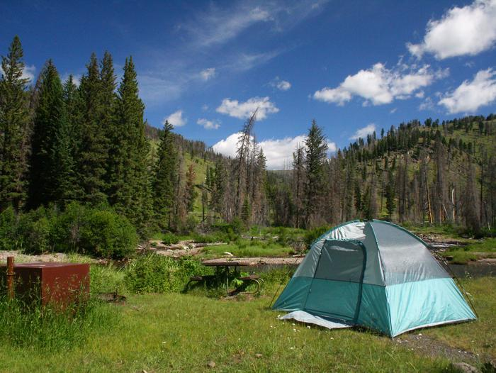 Slough Creek campsite