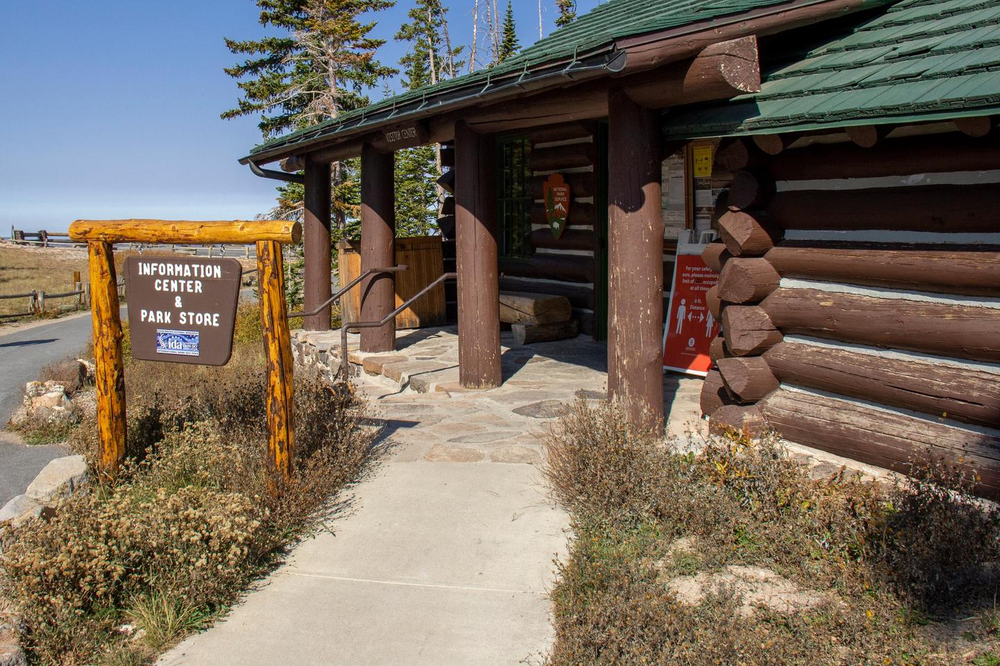 Information Center 4The 1937 log cabin serves as an information center and park store for Cedar Breaks National Monument.