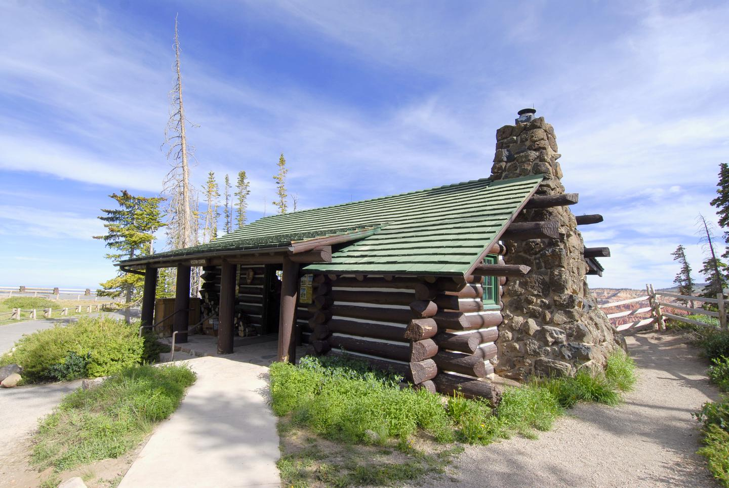 Cedar Breaks Information CenterThis log cabin built in 1937 housing the information center and park store.