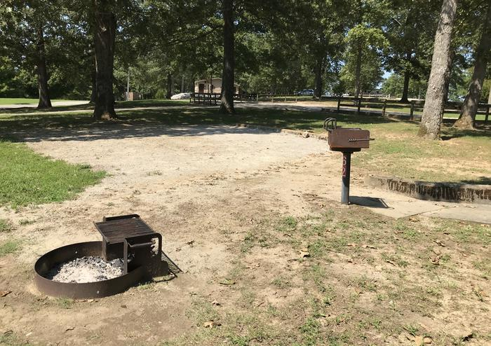WILLOW GROVE CAMPGROUND SITE #62 CAMPFIRE RING AND PEDESTAL GRILLWILLOW GROVE CAMPGROUND SITE #62