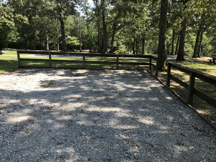 WILLOW GROVE CAMPGROUND SITE #62 GRAVEL PARKING AREA SHARED WITH OTHER CAMPSITESWILLOW GROVE CAMPGROUND SITE #62