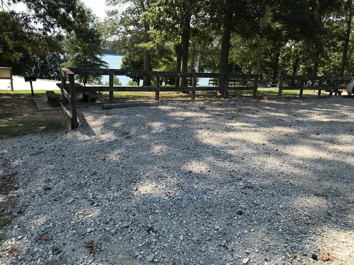 WILLOW GROVE CAMPGROUND SITE #77 GRAVEL PARKING AREA SEPARATED FROM CAMPING PAD WILLOW GROVE CAMPGROUND SITE #77