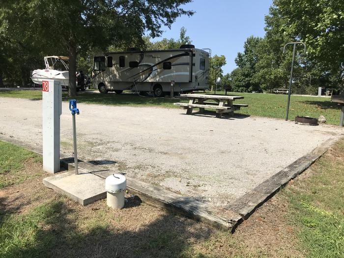 WILLOW GROVE CAMPGROUND SITE #78 UTILITIES AND RV LOCATIONWILLOW GROVE CAMPGROUND SITE #78