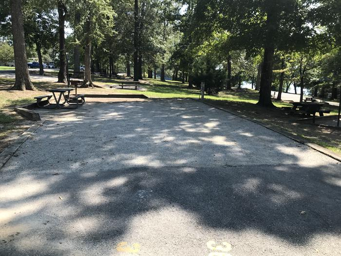"""WILLOW GROVE CAMPGROUND SITE #36 SKIRT OF SITE IS PAVED AND """"LIVE IN"""" AREA IS GRAVELWILLOW GROVE CAMPGROUND SITE #36"""