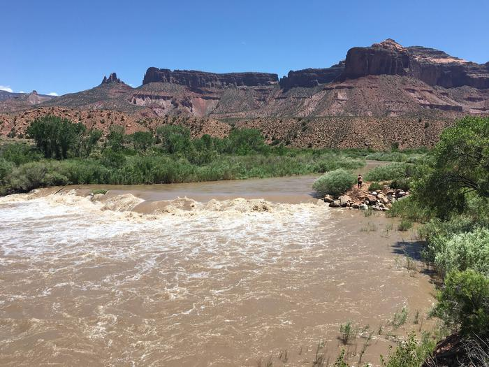 Diversion damn upstream of Stateline
