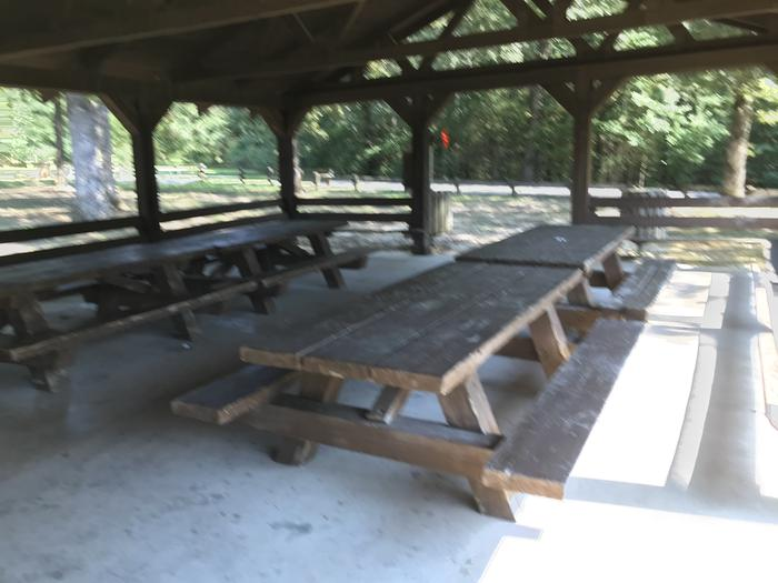 WILLOW GROVE PICNIC SHELTER INTERIOR TABLESWILLOW GROVE PICNIC SHELTER