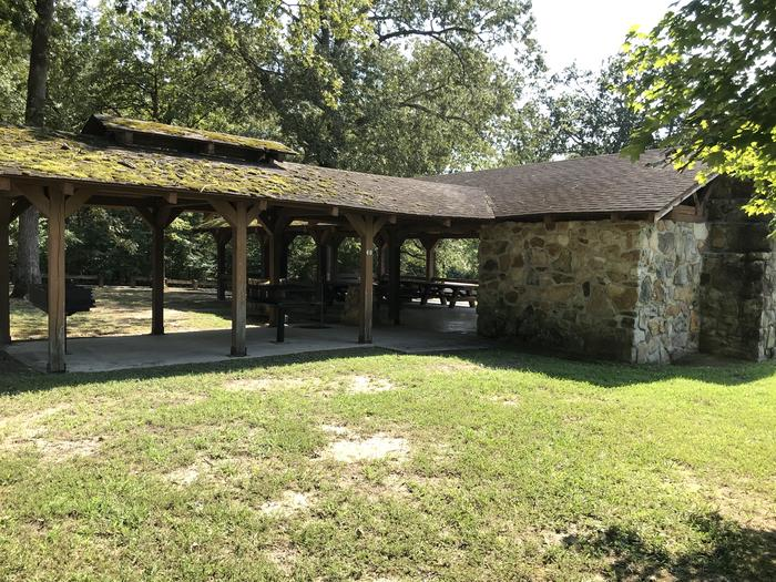 WILLOW GROVE PICNIC SHELTER VIEW OF BACK OF SHELTERWILLOW GROVE PICNIC SHELTER