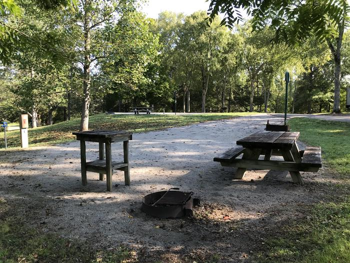 WILLOW GROVE CAMPGROUND SITE #1 BACK IN WITH TABLES AND GRILLS.  NO GUARANTEE ON SMALL TABLEWILLOW GROVE CAMPGROUND SITE #1