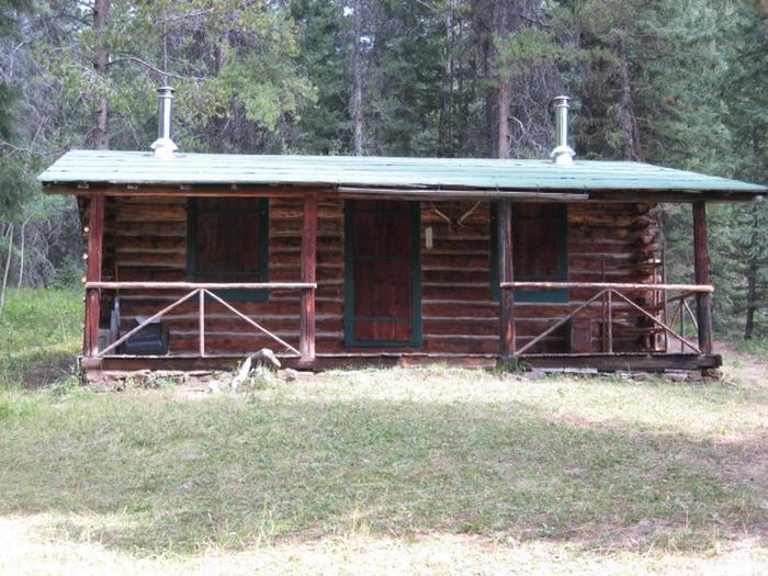 Historic log cabin in wooded settingHistoric Kenck Cabin