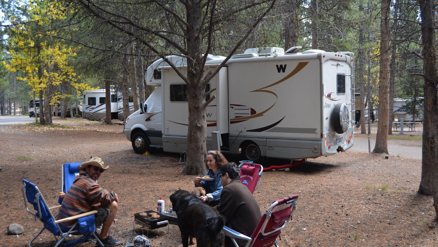 Colter Bay RV Park SitesColter Bay RV Park offers 112 full-hookup pull-through and back-in sites which include sewer, water, and 20-, 30-, and 50-amp electric outlets.
