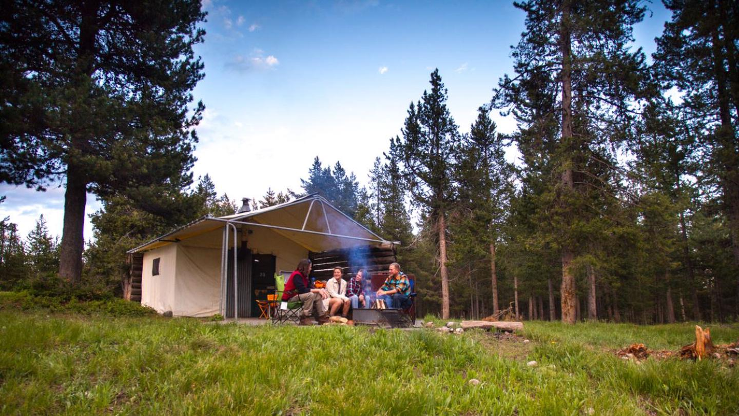 Tent Village CabinsThe vast Colter Bay Tent Village at Colter Bay Village is set amidst towering lodgepole pines just a short, picturesque stroll away from Jackson Lake.