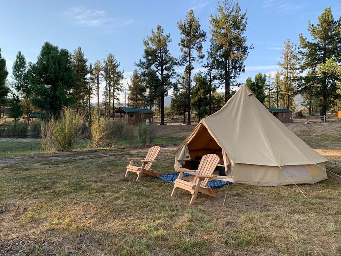 Glamping Tent side viewGlamping Tent