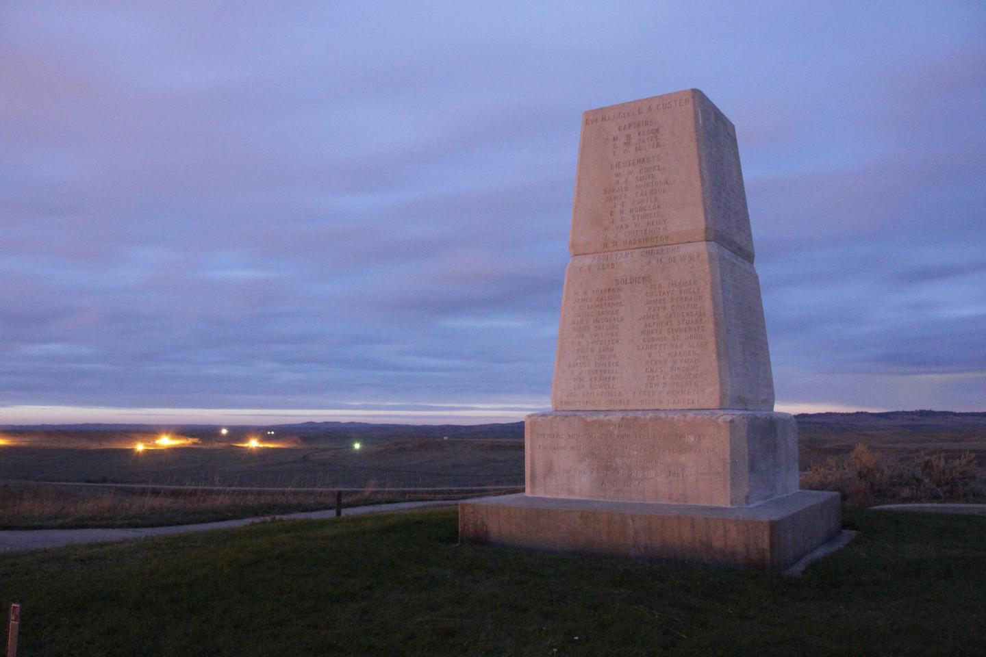 Seventh Calvary MemorialAbout 40 to 50 men of the original 210 were cornered on the hill where the monument now stands.