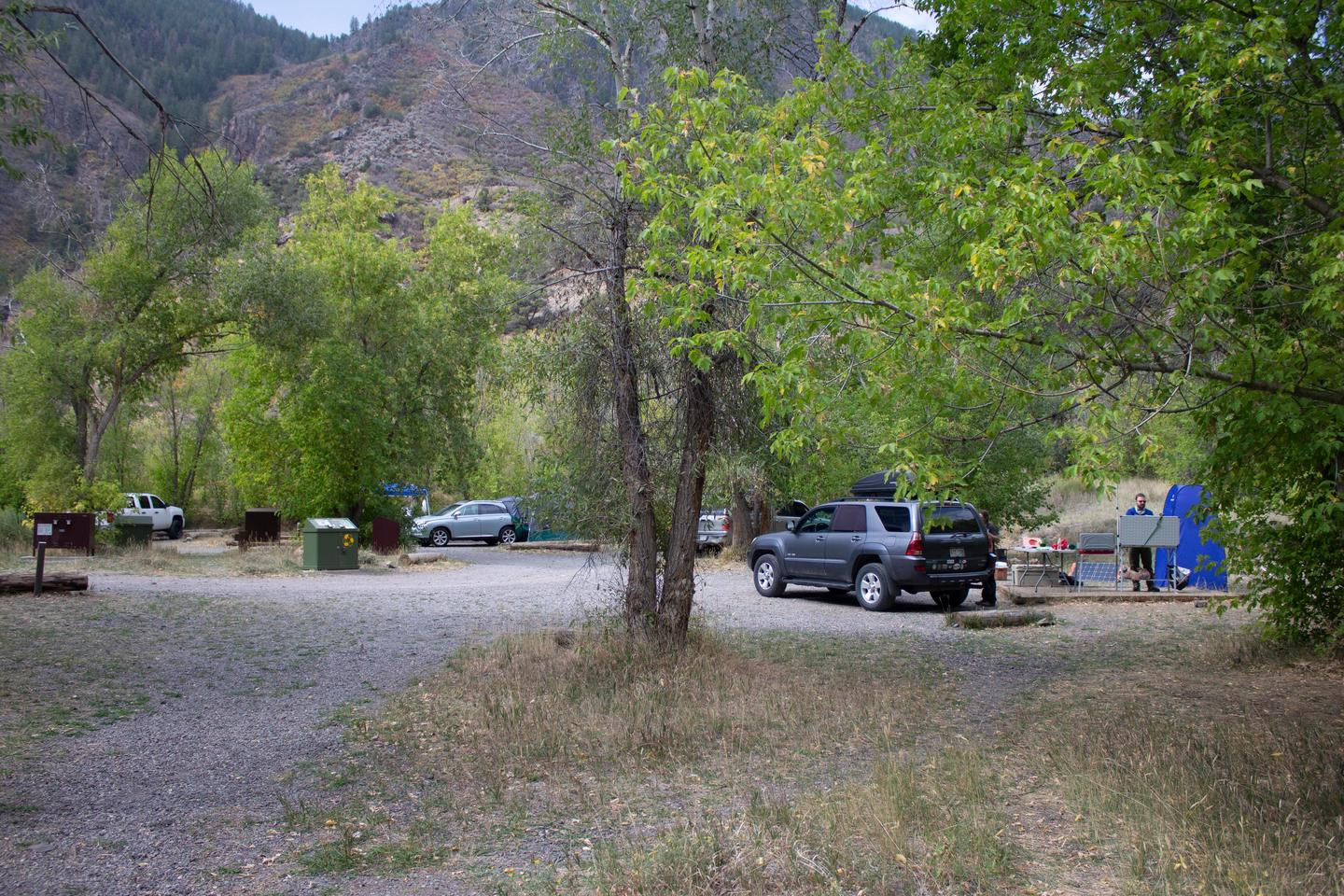 East Portal Campground  - Sites with vehicle accessFive out of the fifteen sites have vehicle access.