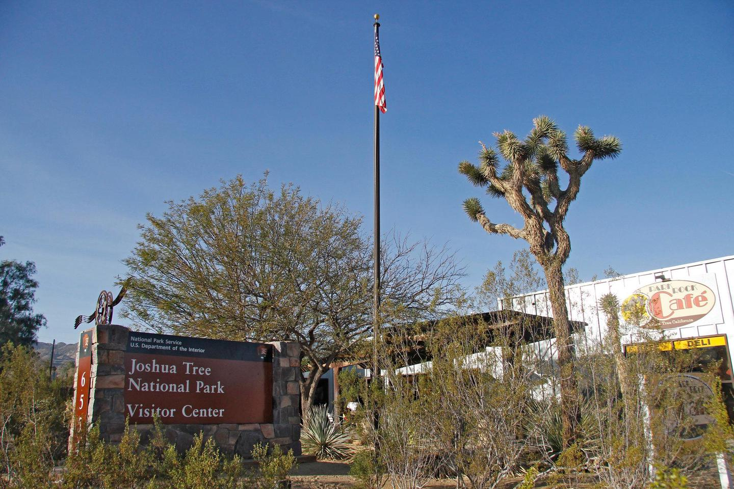 Joshua Tree Visitor CenterThe visitor center in the town of Joshua Tree is about 5 miles from the park's West Entrance and is owned and operated by our park partners, the Joshua Tree National Park Association.