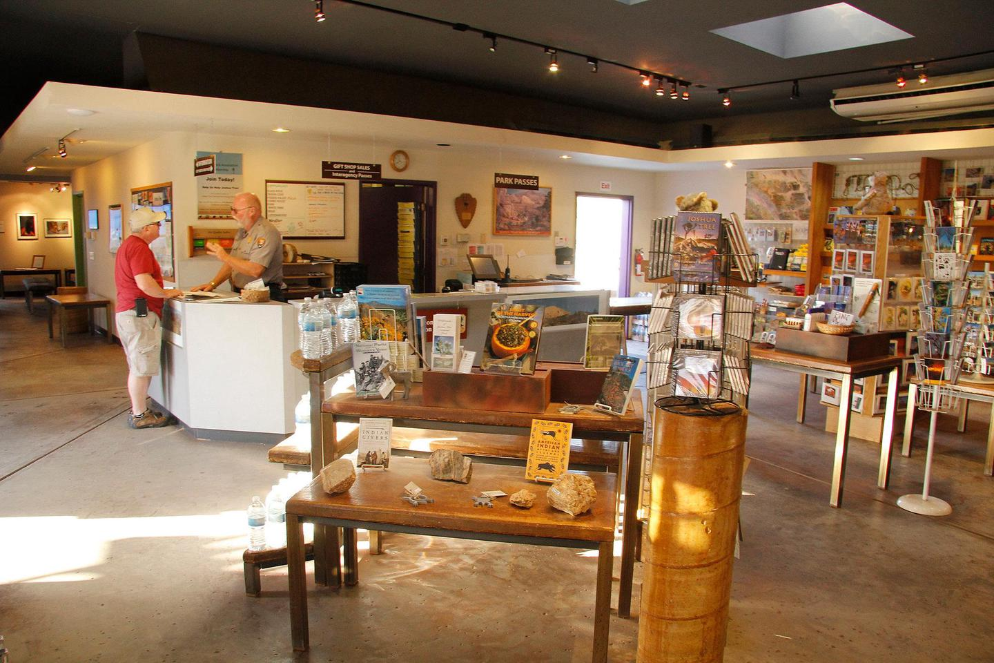 The bookstore in the Joshua Tree Visitor CenterThe Joshua Tree Visitor Center has a bookstore with books, postcards, and other items for sale by our nonprofit partner, the Joshua Tree National Park Association!