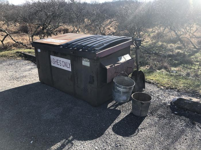 There are 3 fire pit cleaning stations in the campground to help you help us keep those fire pits clean