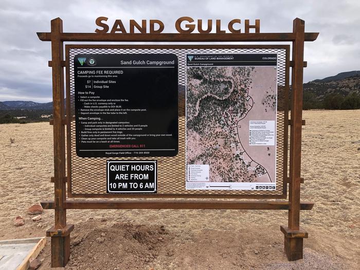 Sand Gulch KioskCampground Kiosk
