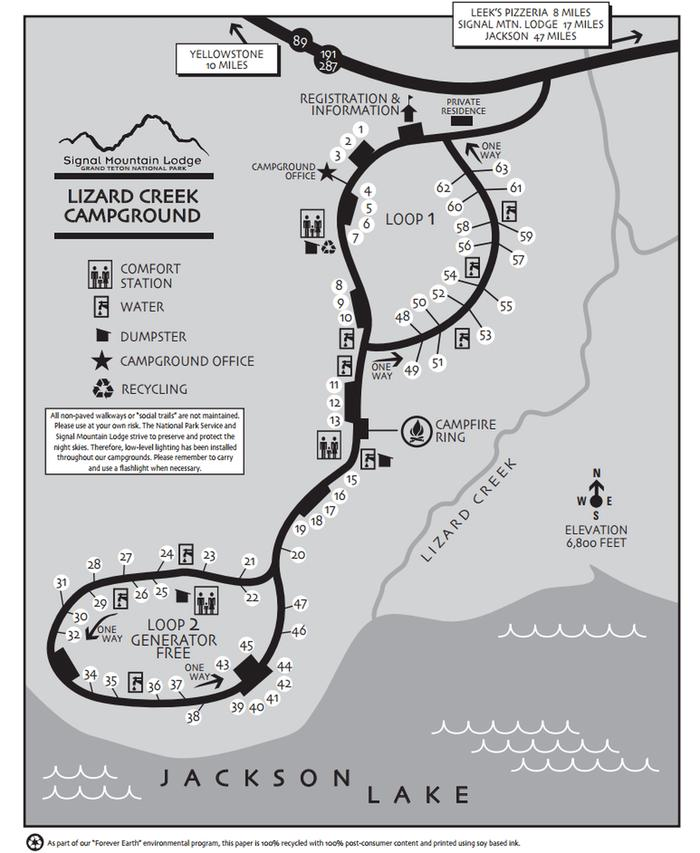 Lizard Creek Campground MapMap Of Lizard Creek Campground