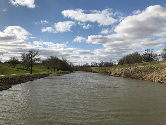 Neosho River Crossing, Council GroveThe Neosho River in Council Grove was an important crossing on the trail.