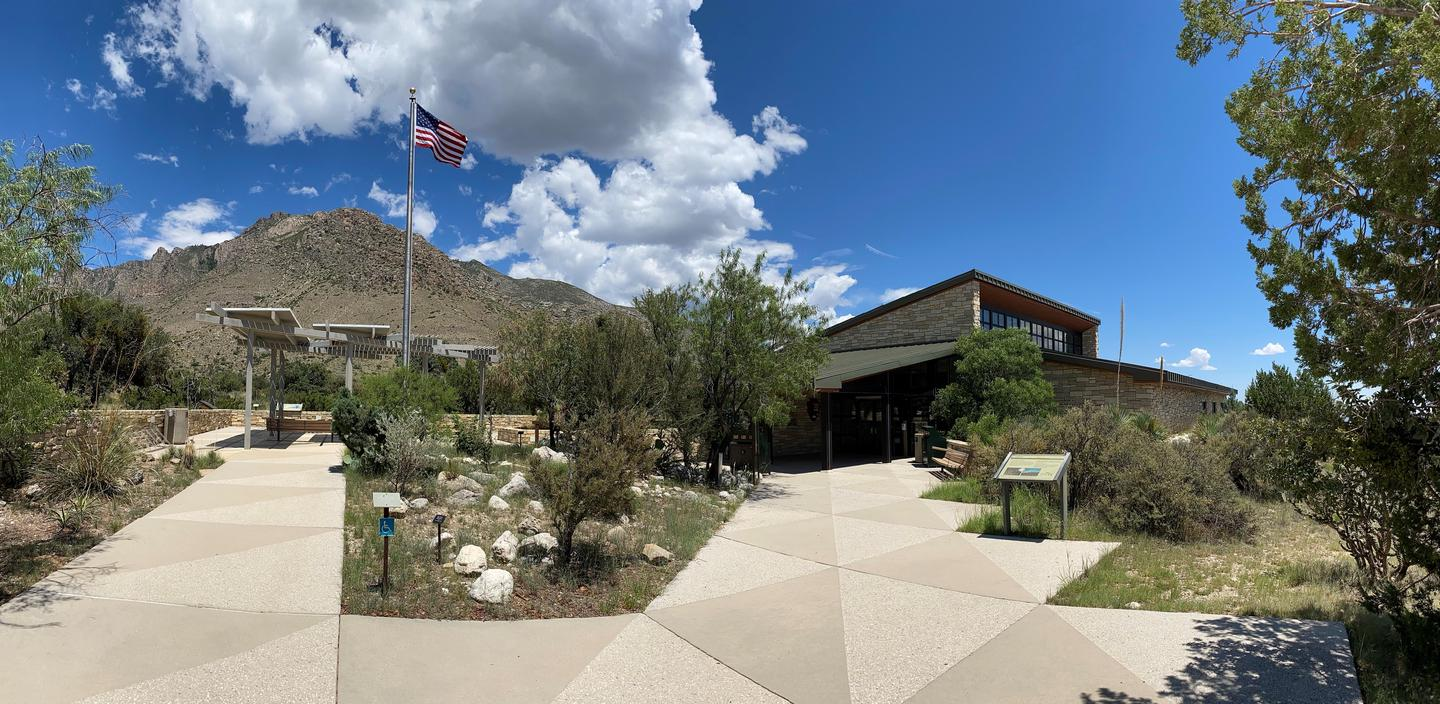 Front view of the Pine Springs Visitor Center