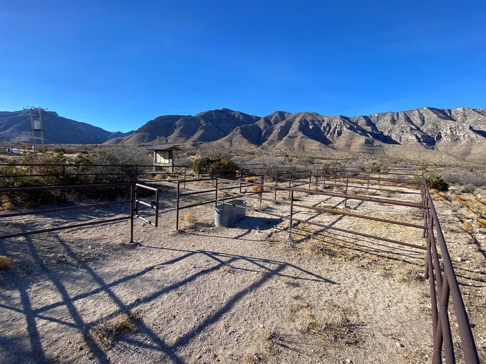 Frijole Ranch Horse campsite corrals
