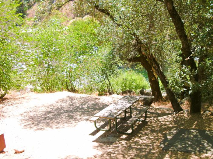 Dry Gulch campsite viewcampsite view with picnic area