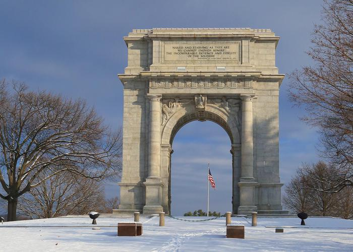 National Memorial ArchThe National Memorial Arch at Valley Forge.