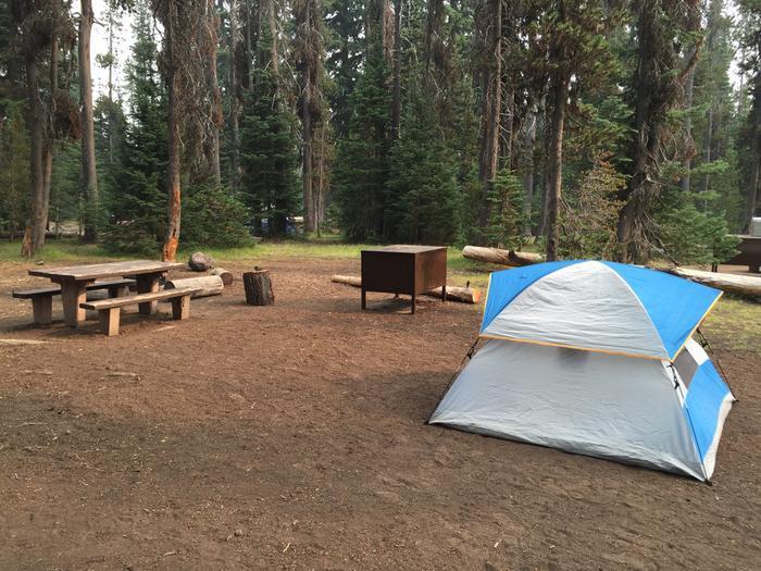 Mazama CampsiteA tent campsite at Mazama Village Campground