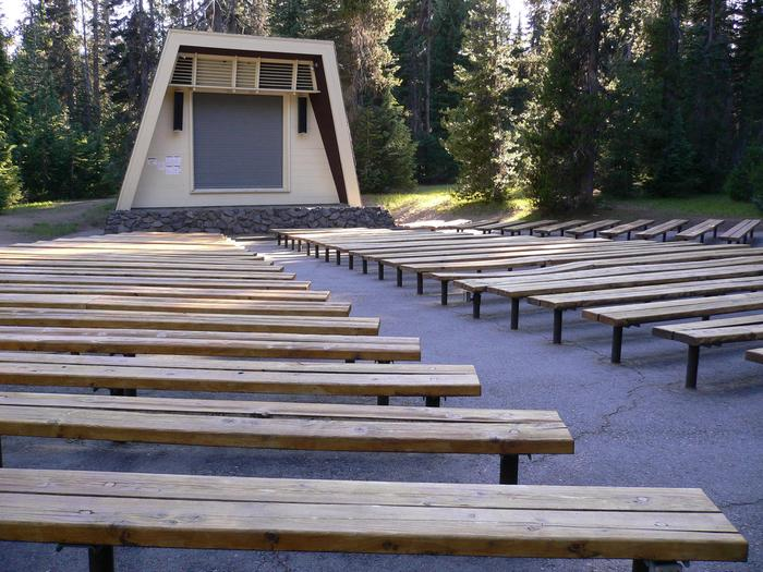 AmphitheaterThe amphitheater hosts nightly ranger programs in July, August, and early September.